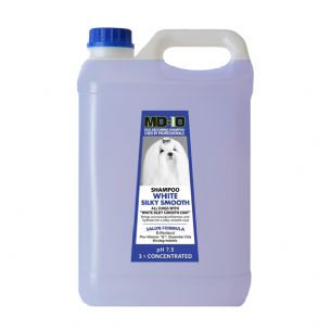 MD10 White Silky Smooth Shampoo 5 Litre (20 Litre Diluted) Shih Tzu, Bichon, Cockerpoo, Chin, Cavalier, King Charles, English Sette